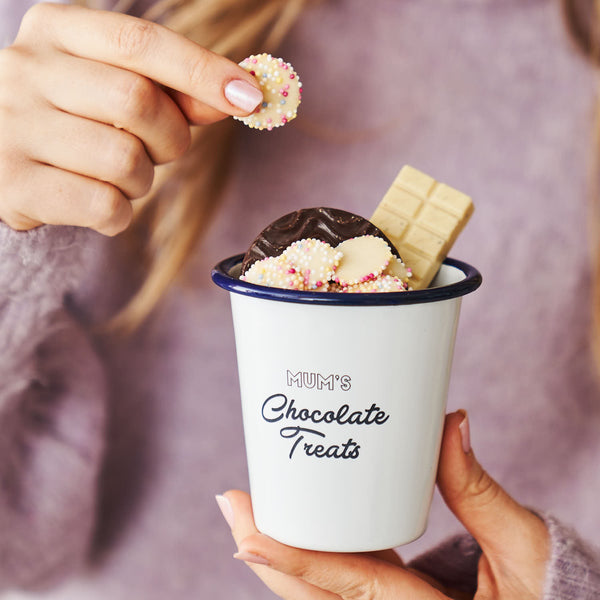 Personalised Mum's Treats Snack Pot With Out Handle
