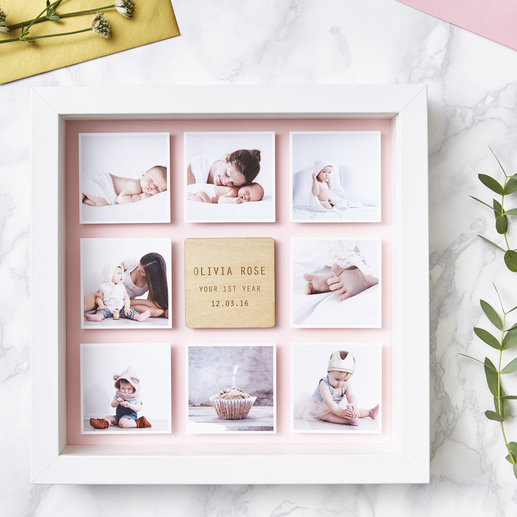 Personalised Framed Baby Photo Print