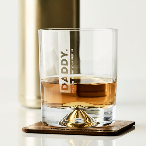 Personalised Whiskey Glass And Coaster