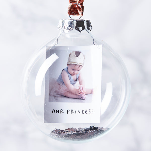 Baby's First Christmas Sequin Personalised Bauble