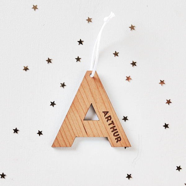 Personalised Wooden Initial Decoration