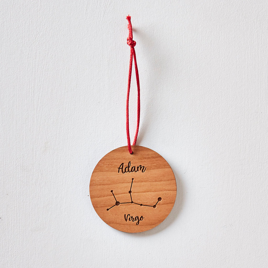 Personalised Wooden Constellation Decoration