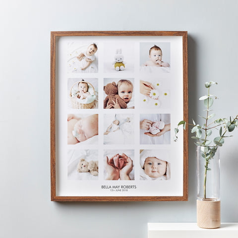 Personalised Baby Framed Photo Print