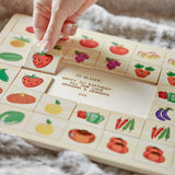 Personalised Fruits & Veg Pairs Puzzle