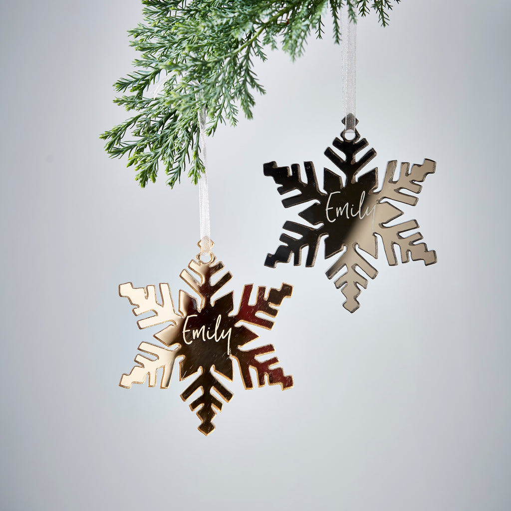 Personalised Snowflake Christmas Decoration