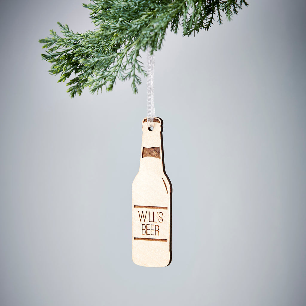 Personalised Beer Bottle Decoration
