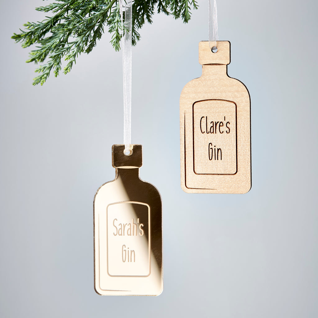 Personalised Gin Bottle Decoration