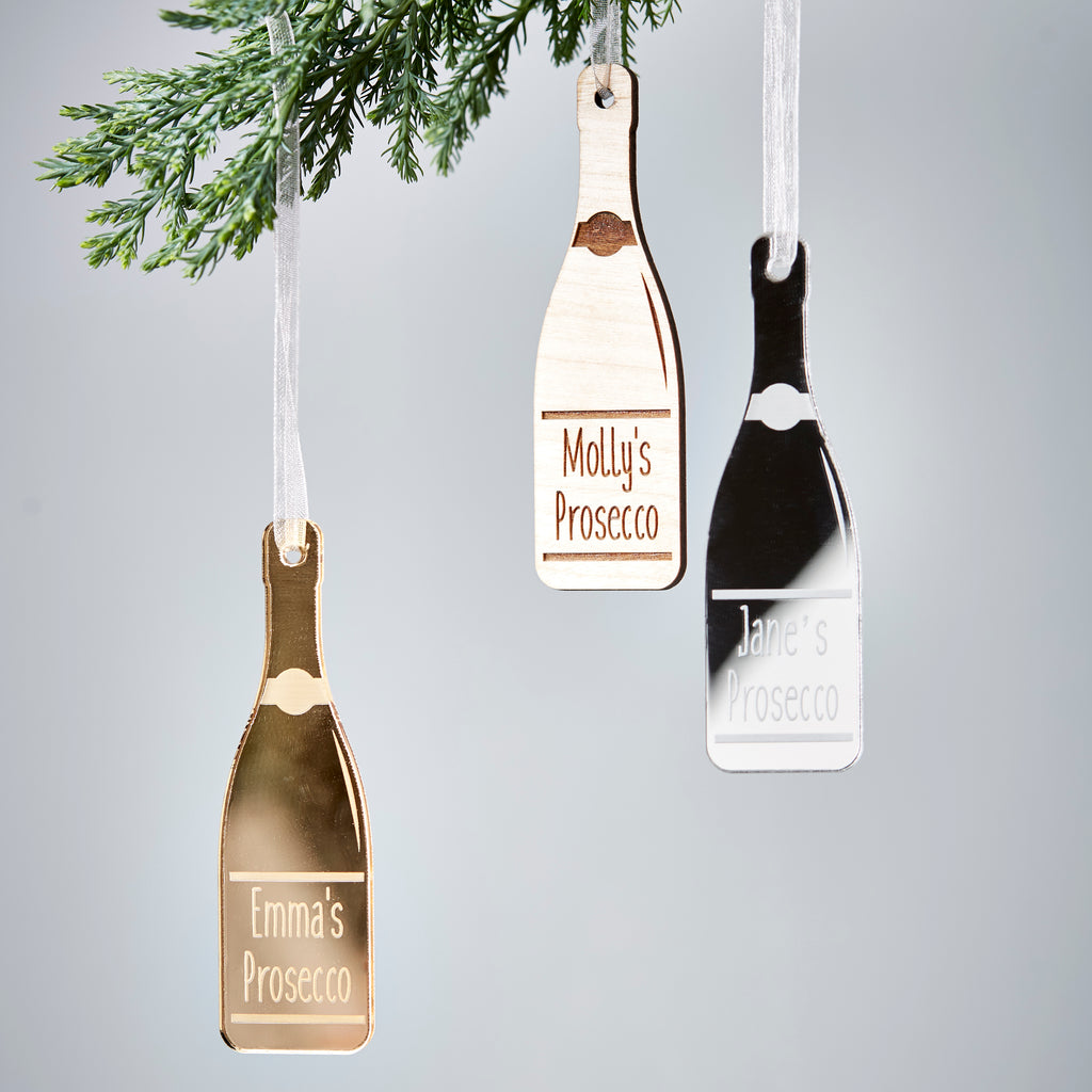 Personalised Prosecco Bottle Decoration
