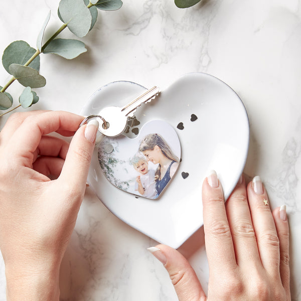 Personalised Heart Photo Keyring
