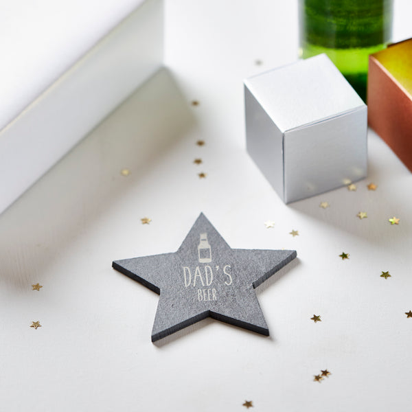 Personalised Star Slate Coaster