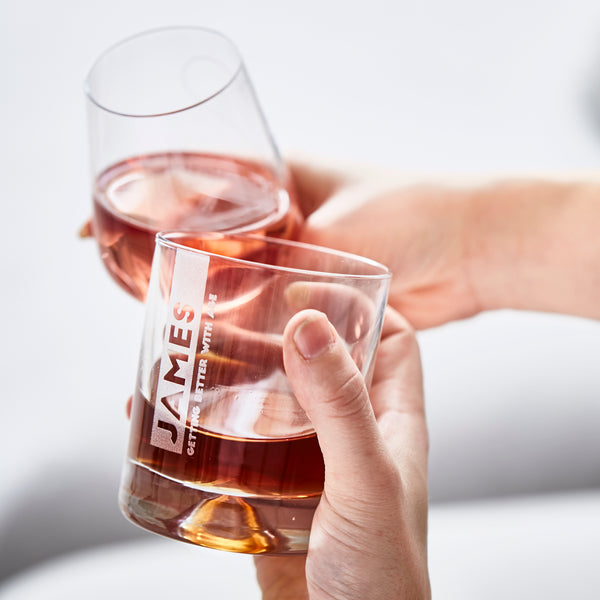 Personalised Message Whiskey Glass