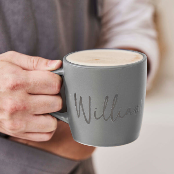 Personalised Stoneware Mug For Him