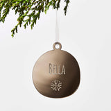 Personalised Snowflake Bauble Christmas Decoration