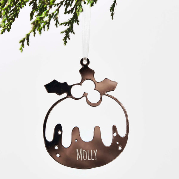 Personalised Pudding Christmas Decoration