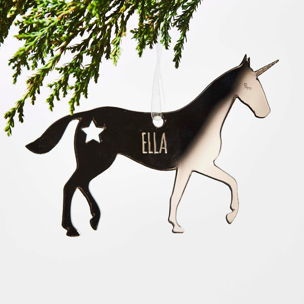 Personalised Unicorn Christmas Decoration