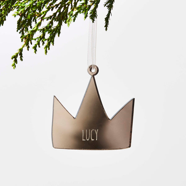 Personalised Crown Christmas Decoration