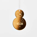 Personalised Snowman Family Christmas Decoration