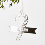 Personalised Candy Cane Christmas Decoration