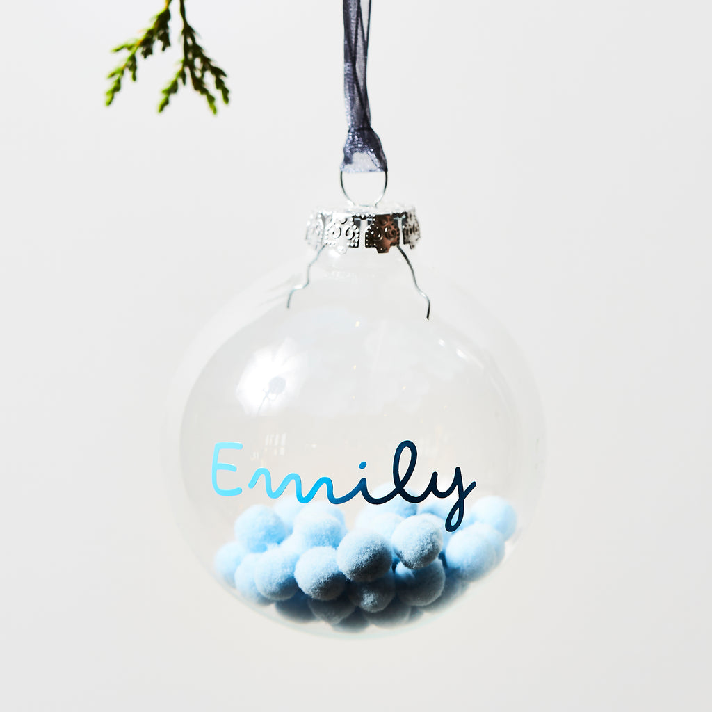 Personalised Pom Pom Bauble