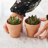 Personalised Set Of Two Couples Plant Pots