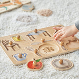 Personalised Objects At Home Wooden Puzzle In Use
