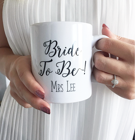 Bride To Be Personalised Mug