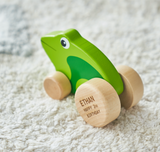 Personalised Wooden Toy Frog
