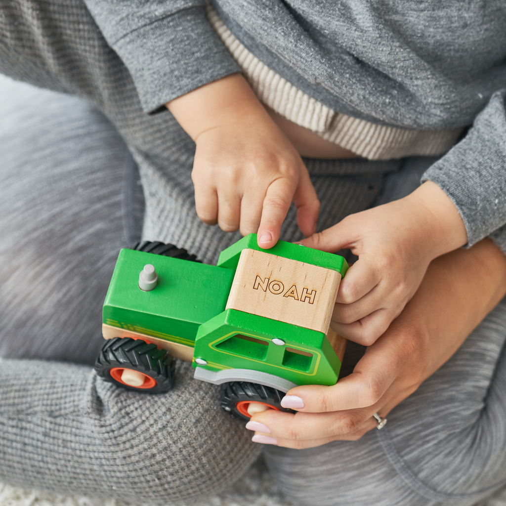 Personalised Wooden Toy Tractor