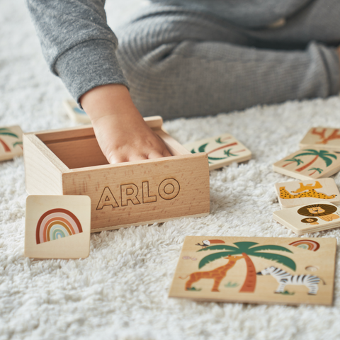 Personalised Wooden Children's Memory Game