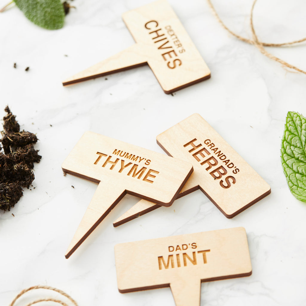 Personalised Family Plant Markers