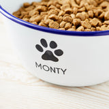 Personalised Enamel Dog Bowl