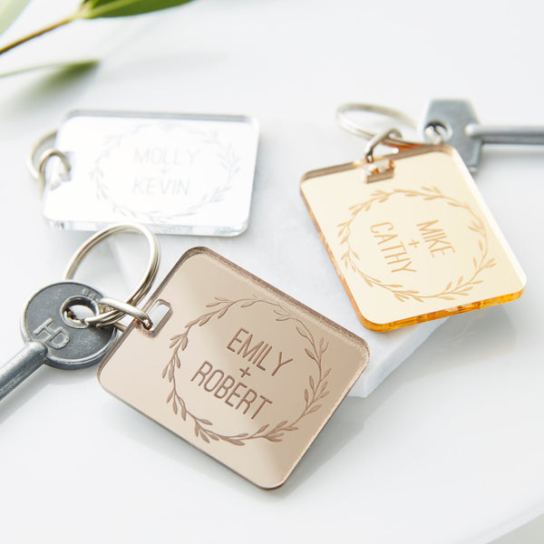 Personalised Couples Keyring
