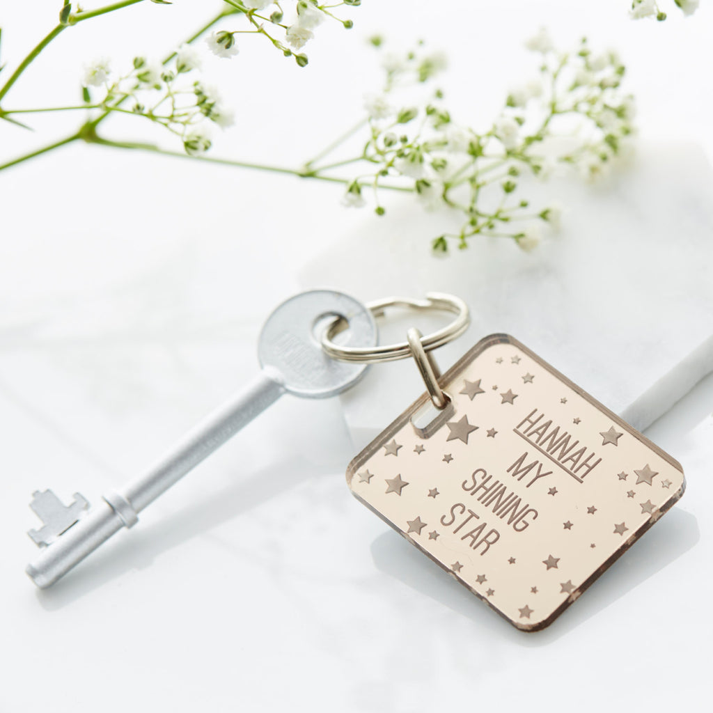 Personalised Shining Star Keyring