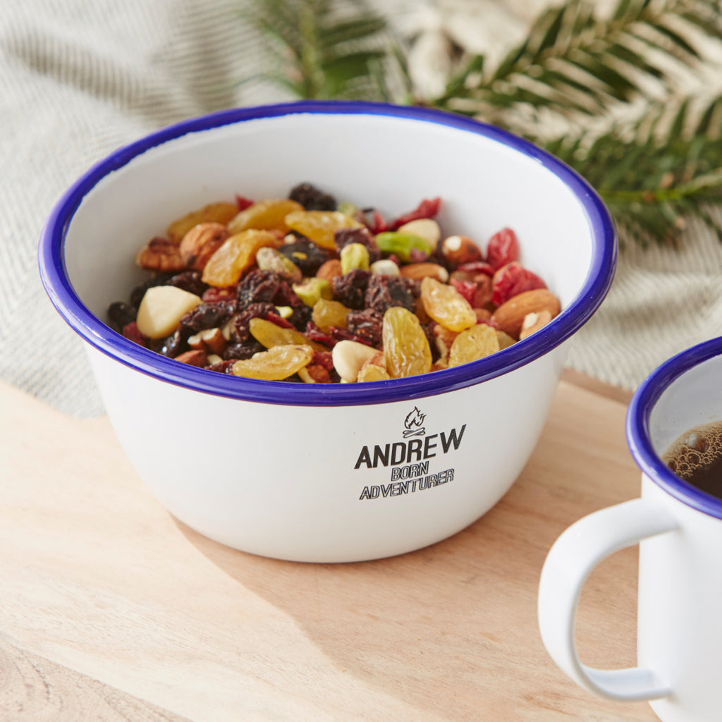 Personalised Adventurer Enamel Bowl