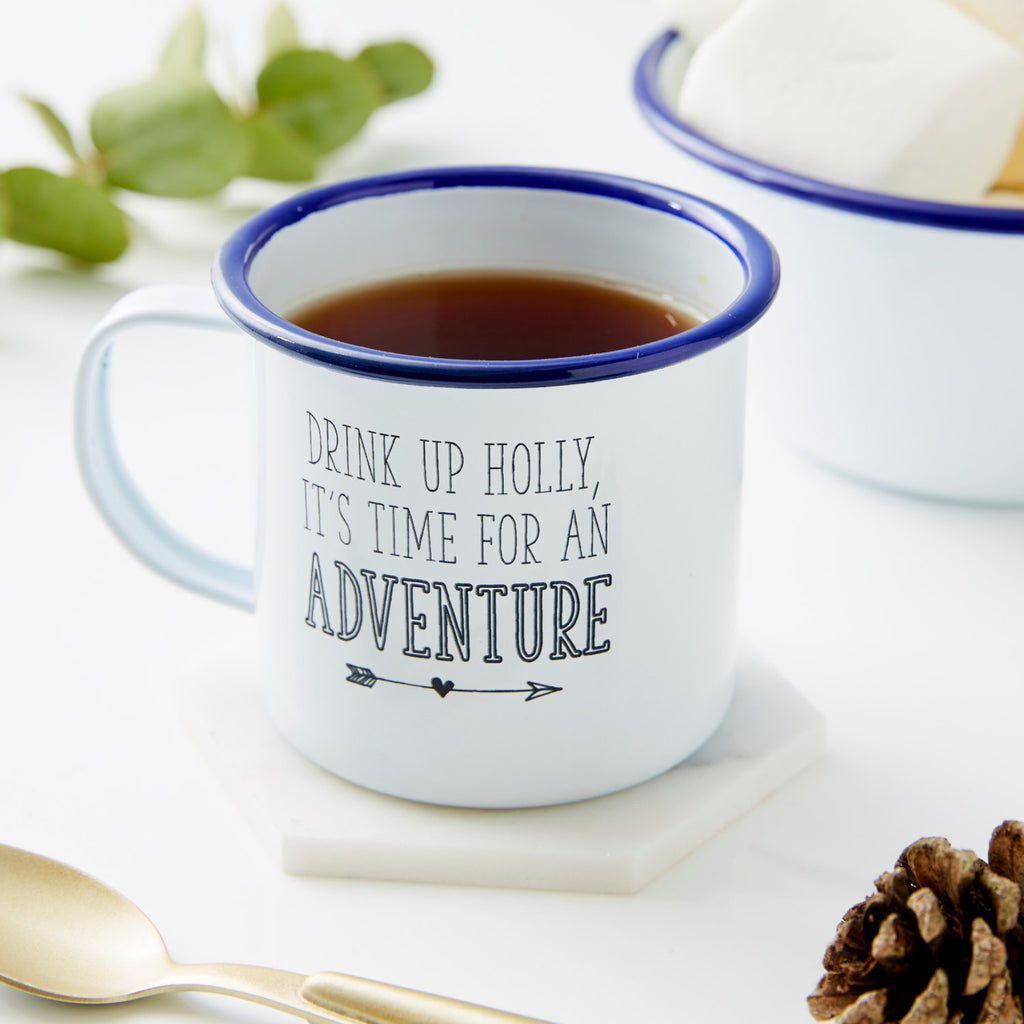 Personalised Enamel Adventure Mug