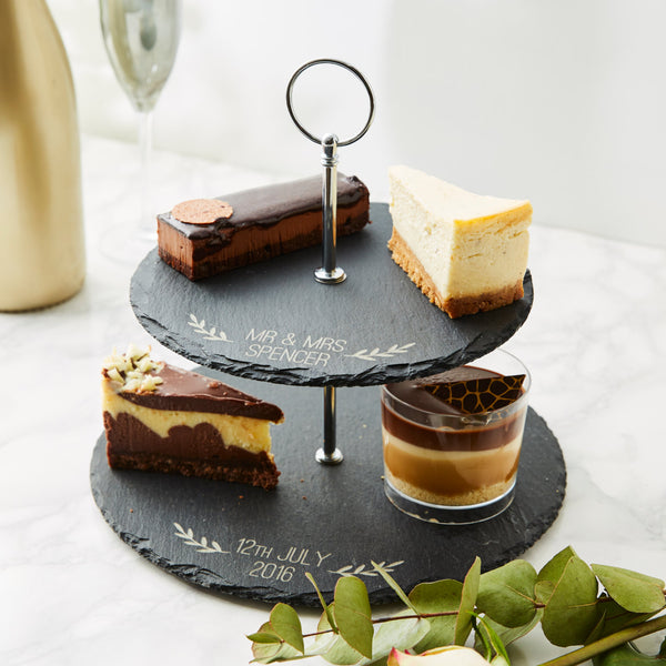 Slate Personalised Cake Stand