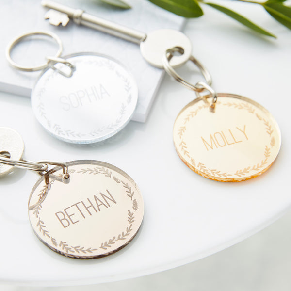 Personalised Mirrored Keyring