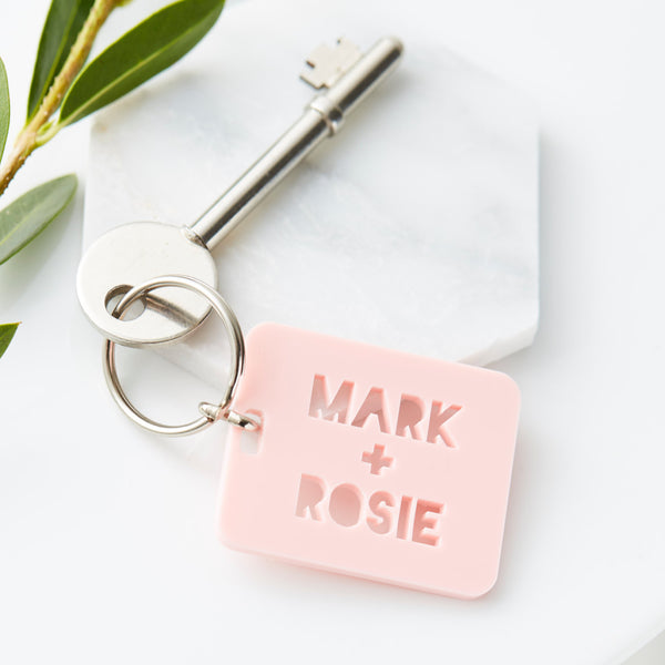 Couples Personalised Keyring