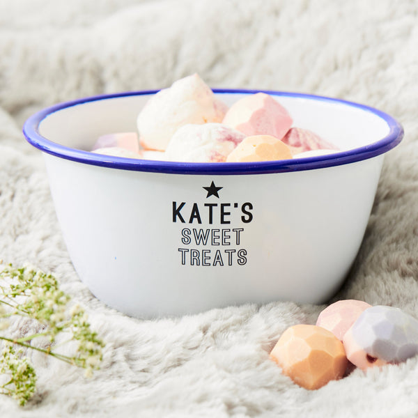 Personalised Enamel Bowl For Her