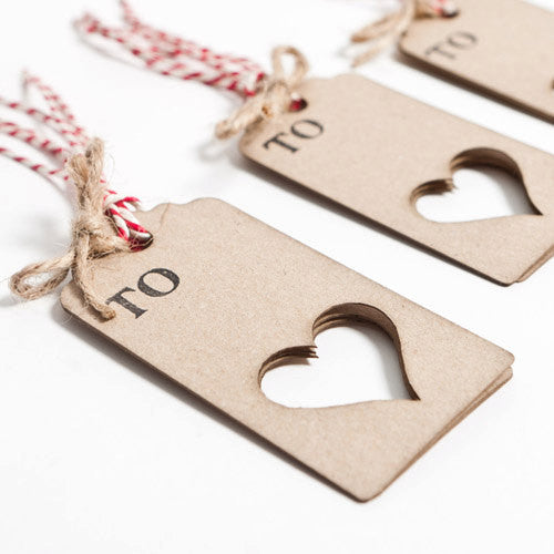 Lasercut Love Hearts Gift Tags
