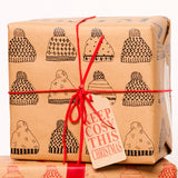 Keep Cosy This Christmas Gift Wrap - Black