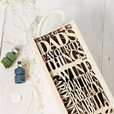 Personalised Fathers Day Wooden Bottle Box