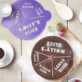 Personalised Slice Size Cake Stencil