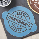 Personalised Secret Recipe Cake Stencil