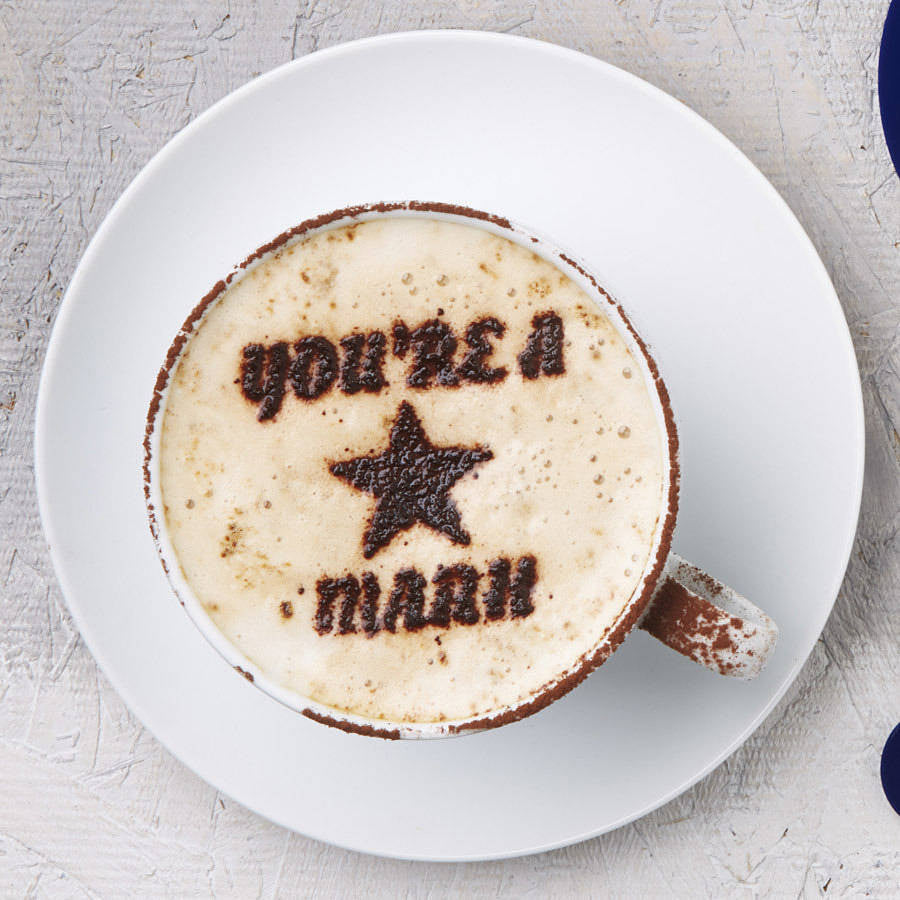 Personalised 'You're A Star' Coffee Stencil