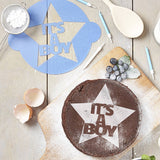 It's A Boy! Announcement Cake Stencil