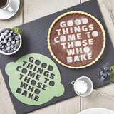 Personalised Quote Cake Stencil