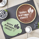 Personalised Happy Birthday Cake Stencil