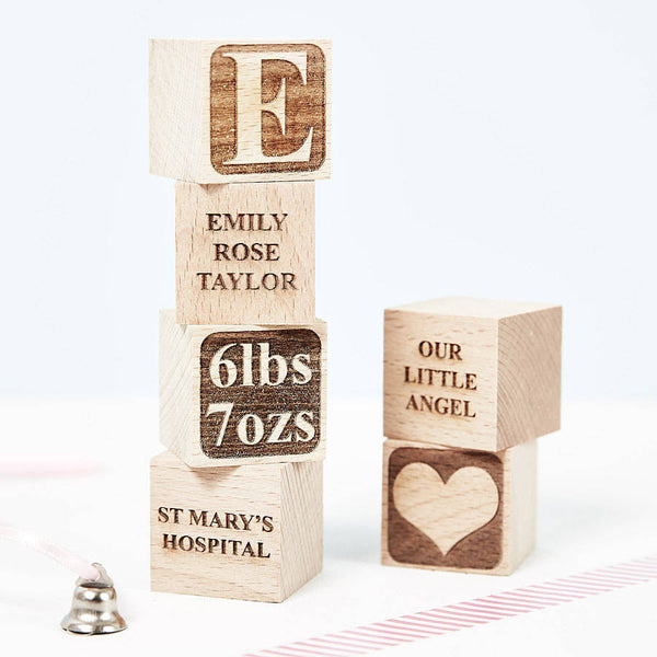 Personalised Baby Keepsake Building Block