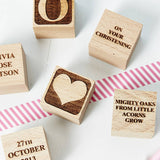 Personalised Christening Heart Building Block